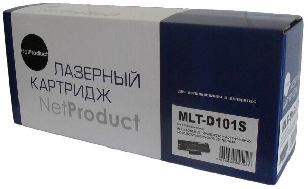 Картридж NetProduct (N-MLT-D101S) для Samsung ML-2160/2162/2165/2166W/SCX3400, 1,5K